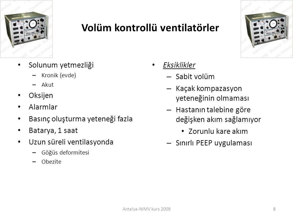 Volüm kontrollü ventilatörler