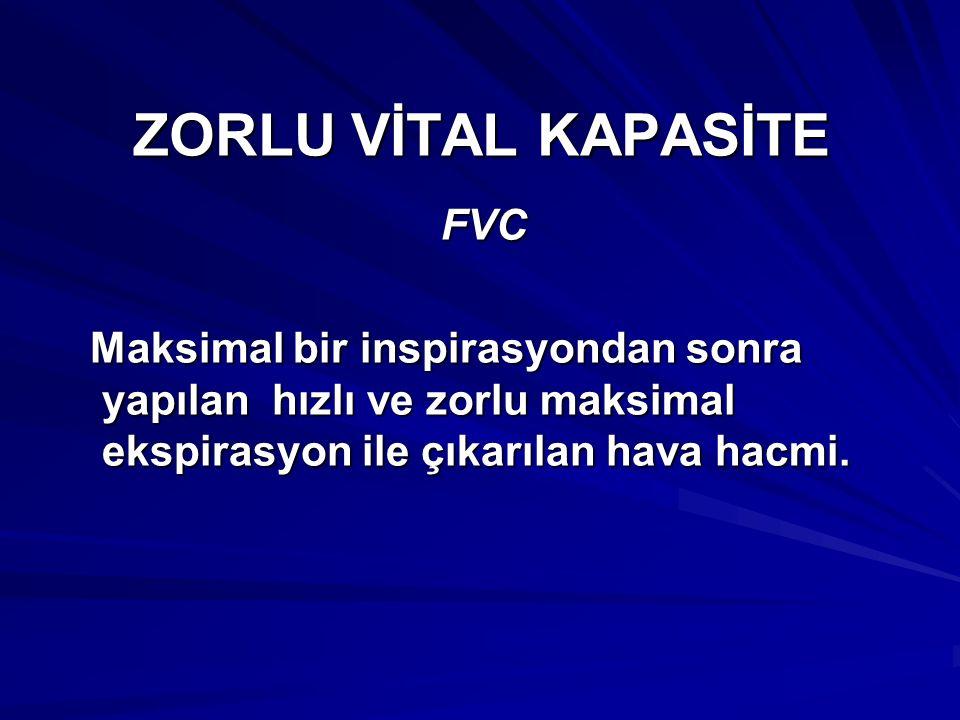 ZORLU VİTAL KAPASİTE FVC