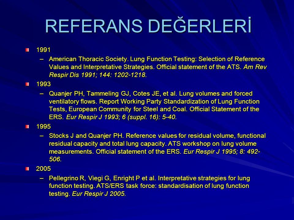 REFERANS DEĞERLERİ 1991.