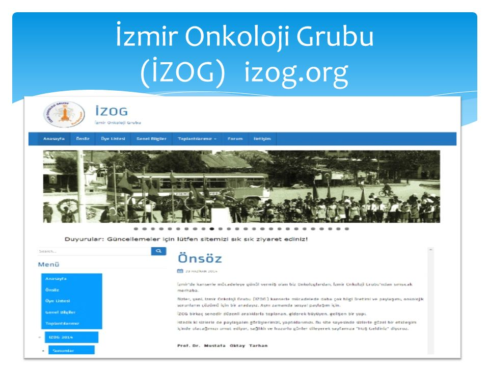 İzmir Onkoloji Grubu (İZOG) izog.org