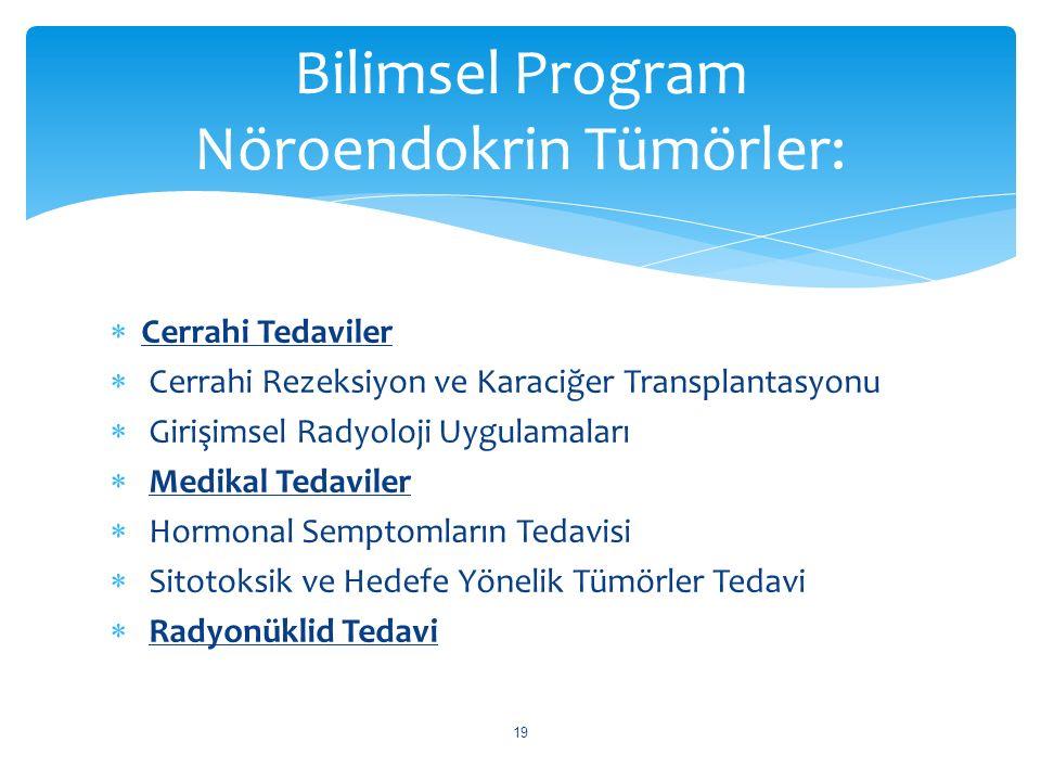 Bilimsel Program Nöroendokrin Tümörler: