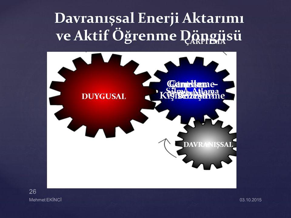 Davranışsal Enerji Aktarımı ve Aktif Öğrenme Döngüsü
