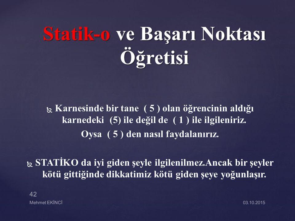 Statik-o ve Başarı Noktası Öğretisi