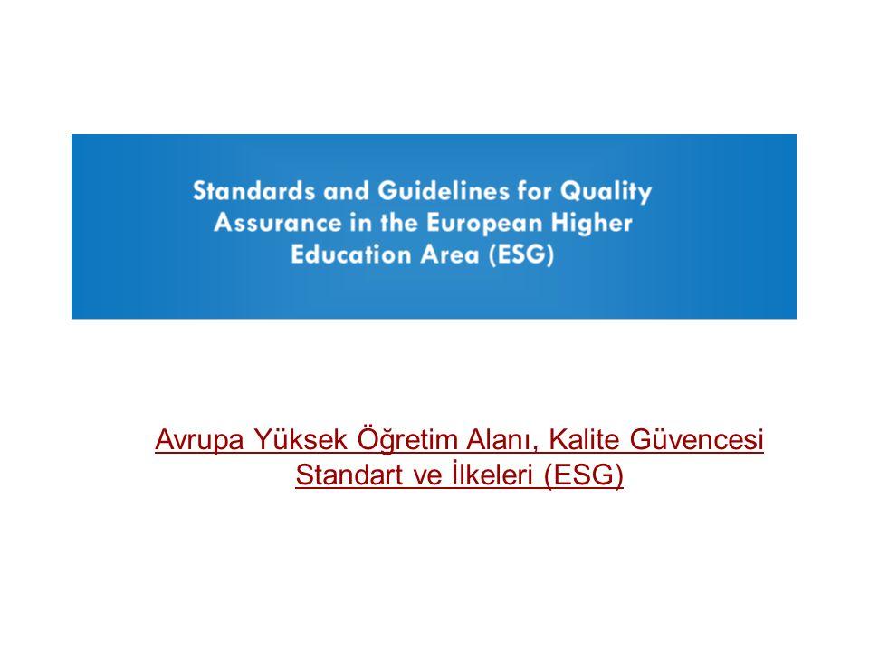 Avrupa Yüksek Öğretim Alanı, Kalite Güvencesi