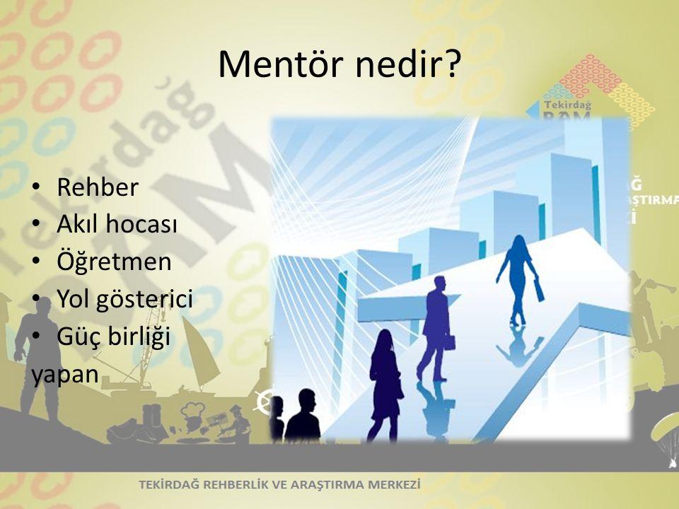 Mentör nedir Rehber Akıl hocası Öğretmen Yol gösterici Güç birliği