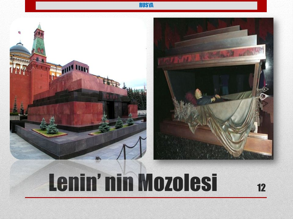 Lenin' nin Mozolesi RUSYA