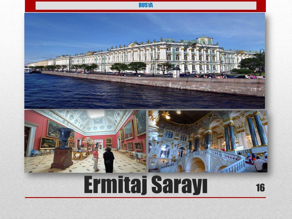 RUSYA dünyanın en büyük 5 müzesinden biri ve dünyanın en büyük resüm müzesi Ermitaj Sarayı