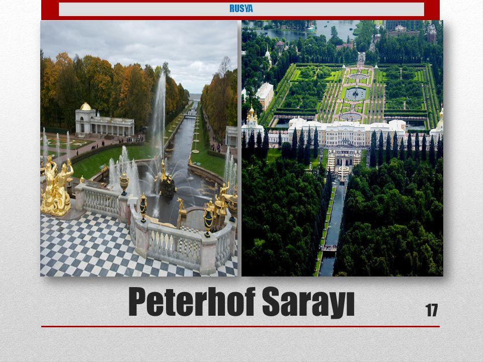 RUSYA Petro tarafından yaptırılmış Peterhof Sarayı