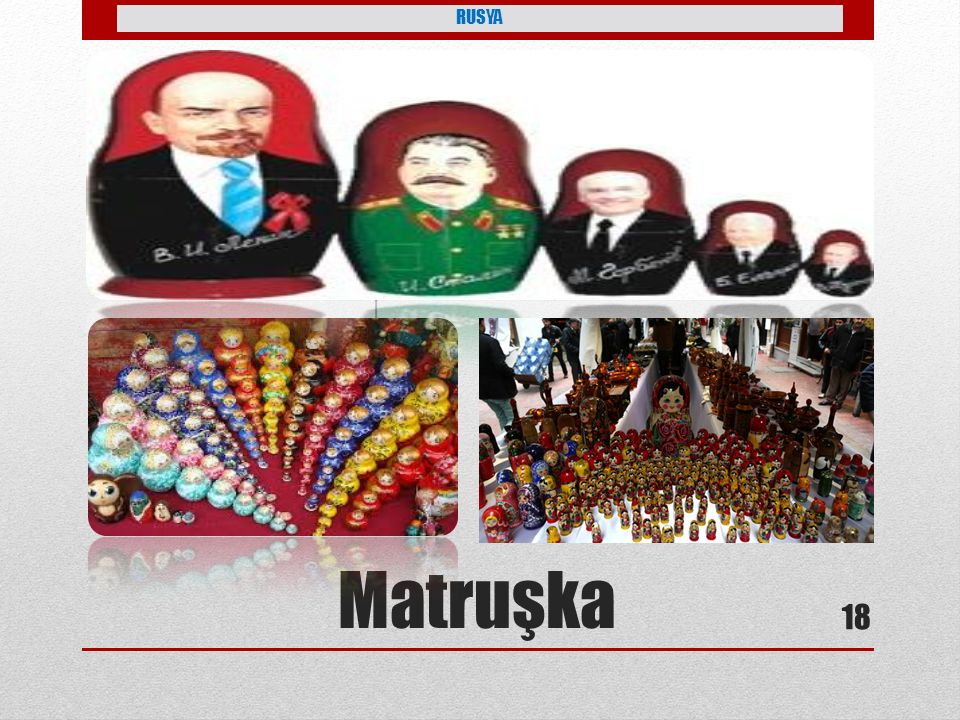 RUSYA Petro tarafından yaptırılmış Matruşka