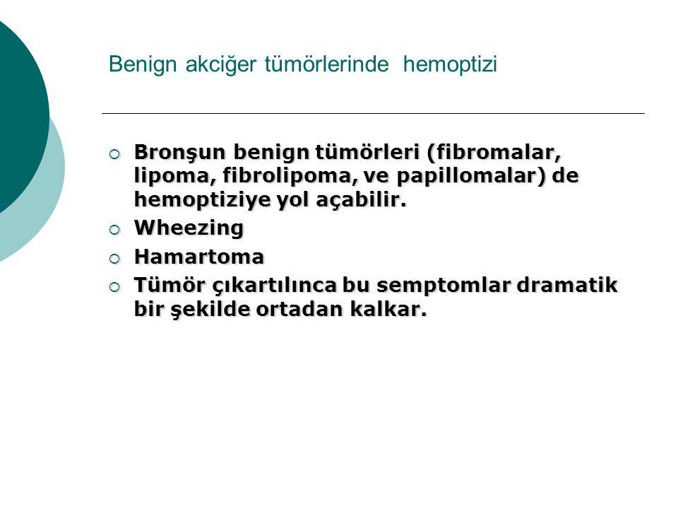 Benign akciğer tümörlerinde hemoptizi