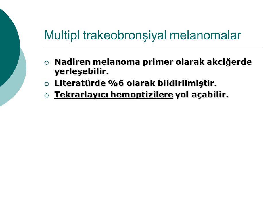Multipl trakeobronşiyal melanomalar