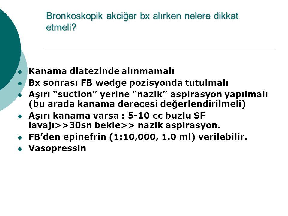Bronkoskopik akciğer bx alırken nelere dikkat etmeli
