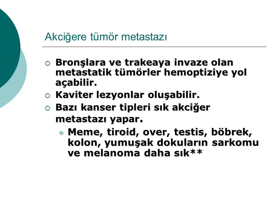 Akciğere tümör metastazı