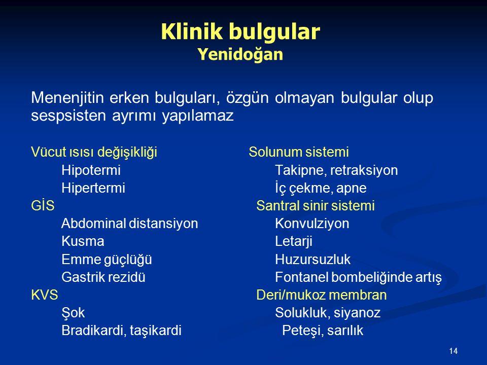 Klinik bulgular Yenidoğan