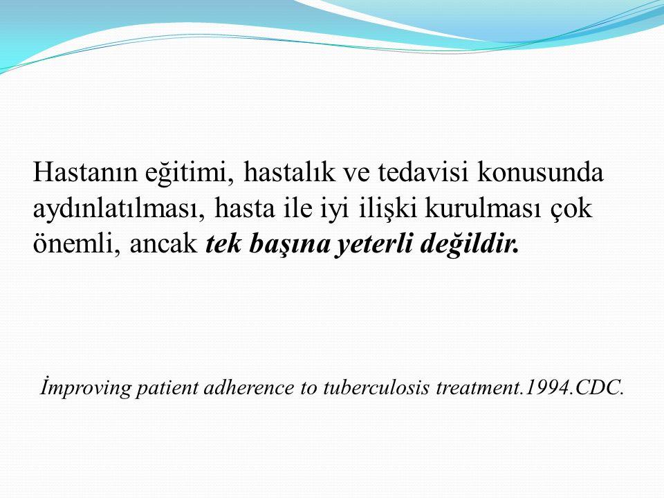 Hastanın eğitimi, hastalık ve tedavisi konusunda aydınlatılması, hasta ile iyi ilişki kurulması çok önemli, ancak tek başına yeterli değildir.
