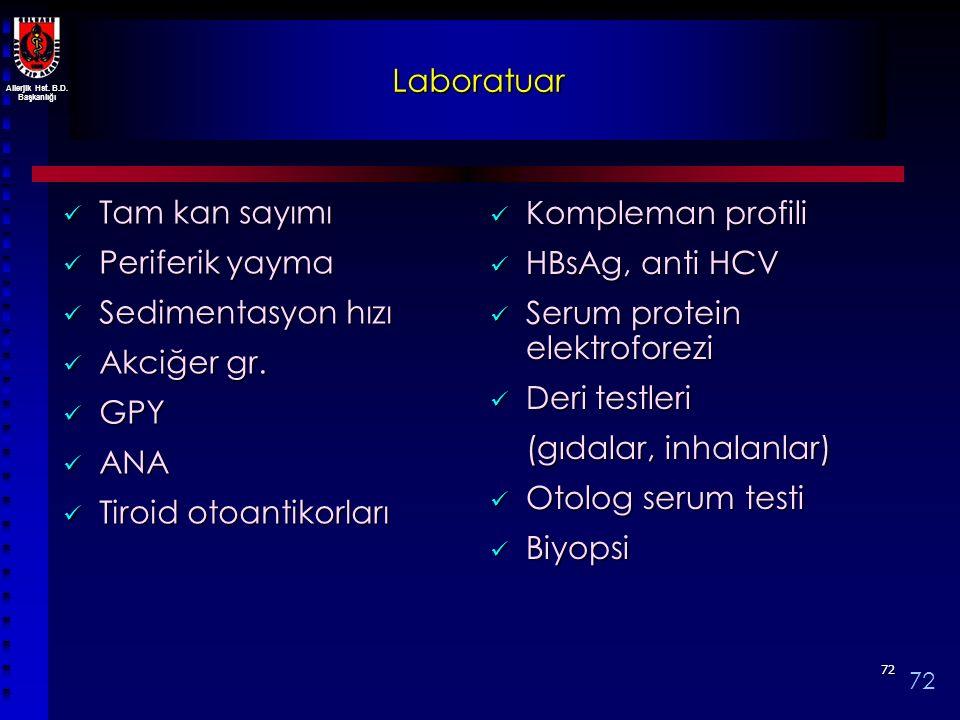 Tiroid otoantikorları Kompleman profili HBsAg, anti HCV