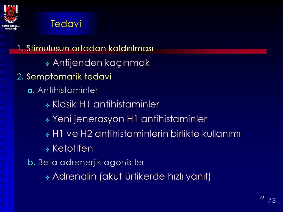 Klasik H1 antihistaminler Yeni jenerasyon H1 antihistaminler