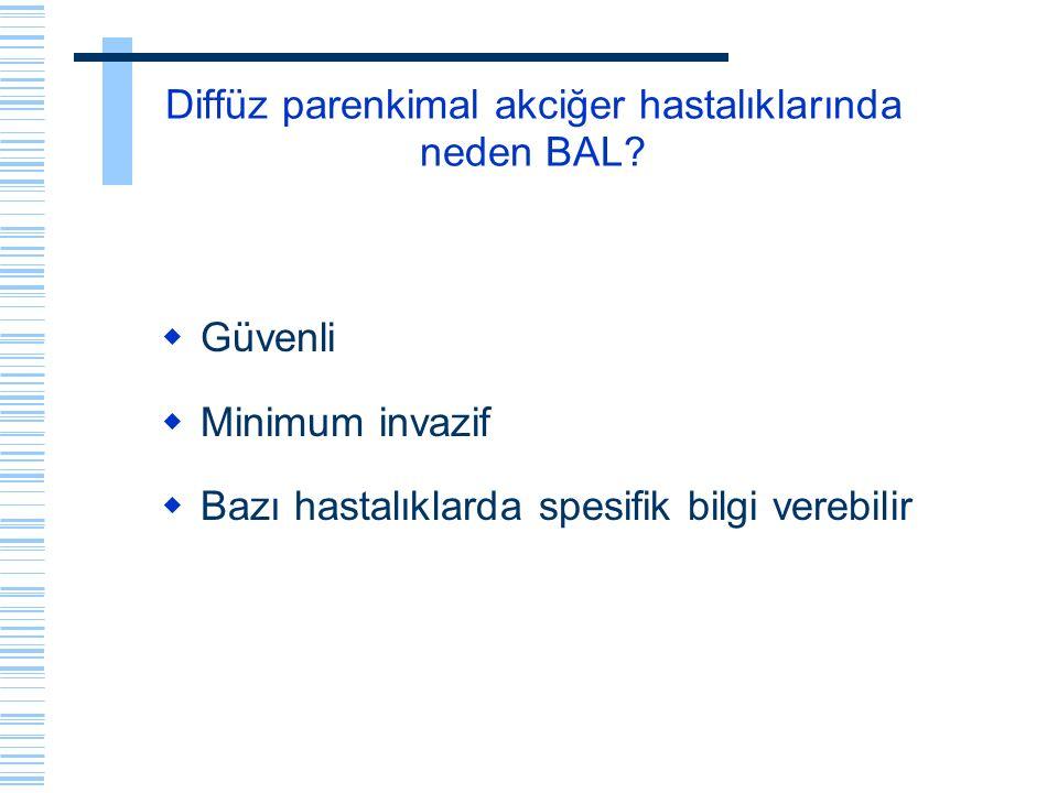 Diffüz parenkimal akciğer hastalıklarında neden BAL