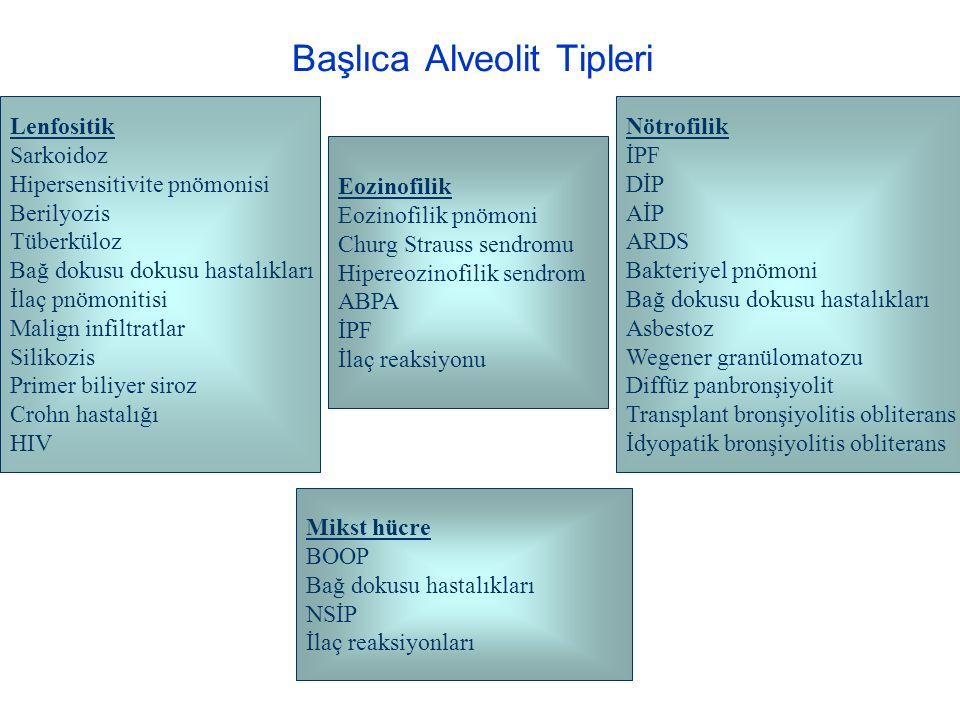 Başlıca Alveolit Tipleri