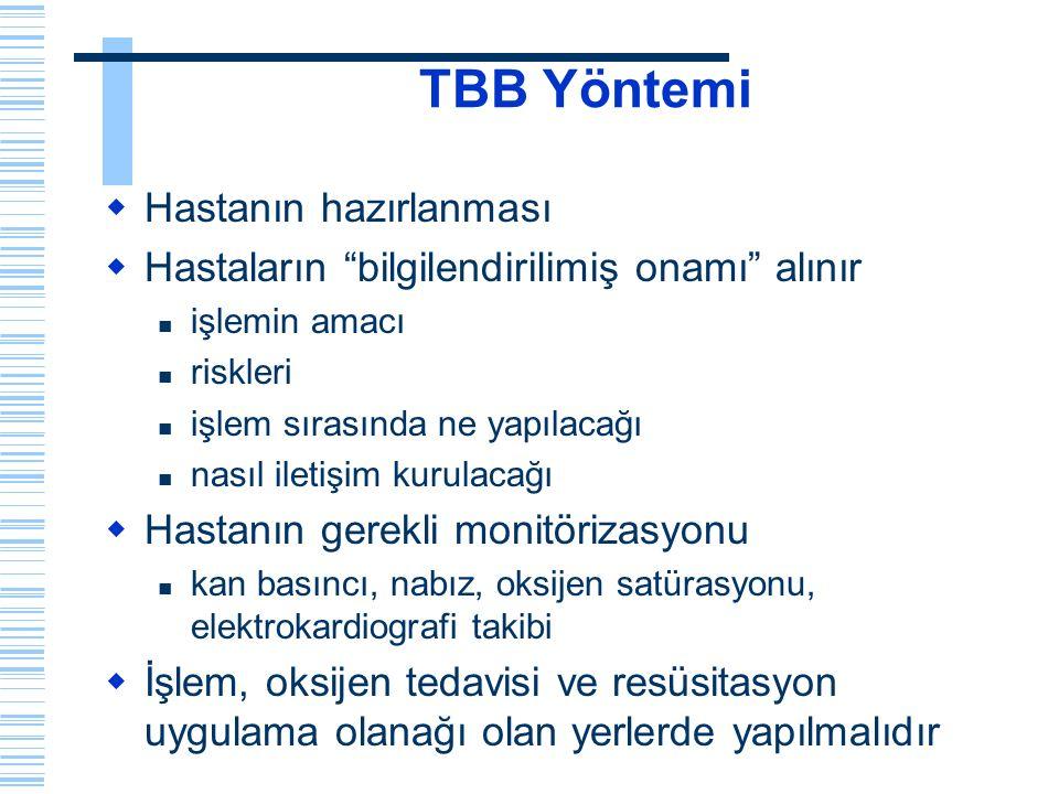 TBB Yöntemi Hastanın hazırlanması