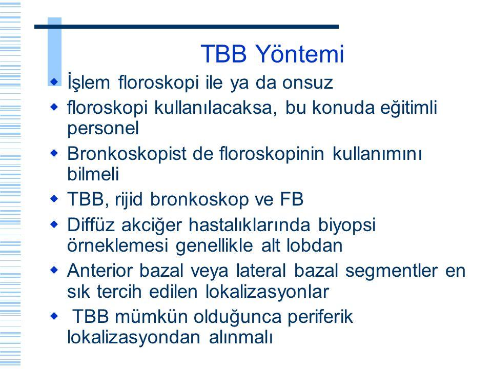 TBB Yöntemi İşlem floroskopi ile ya da onsuz