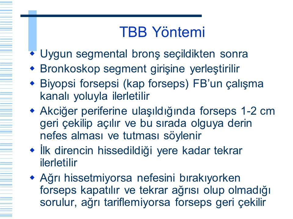 TBB Yöntemi Uygun segmental bronş seçildikten sonra