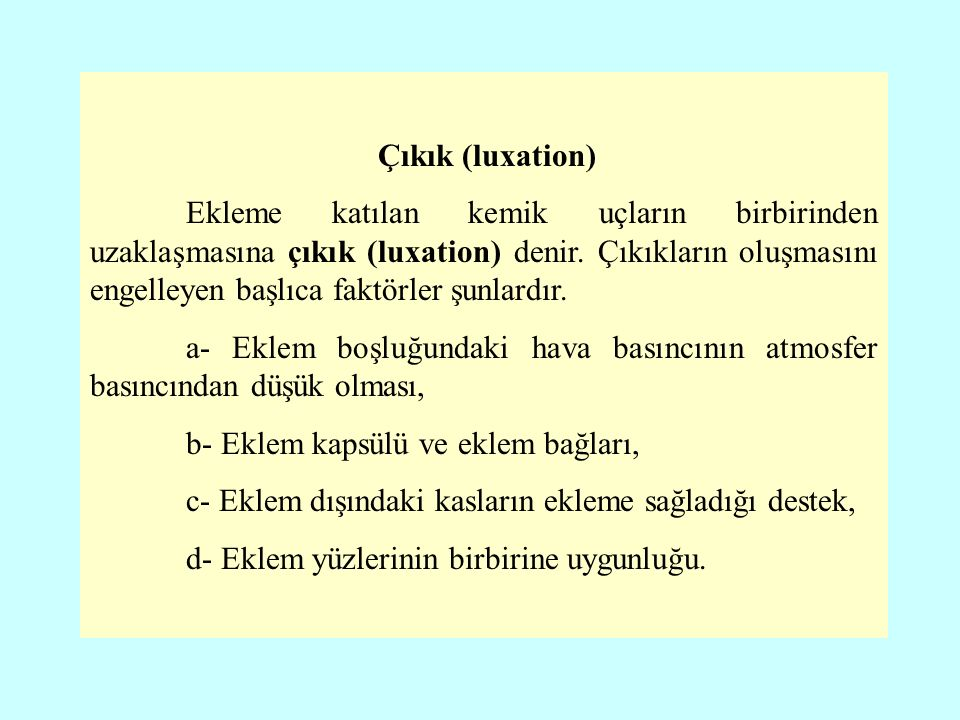 Çıkık (luxation)
