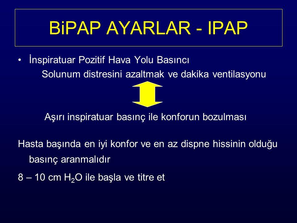 BiPAP AYARLAR - IPAP İnspiratuar Pozitif Hava Yolu Basıncı