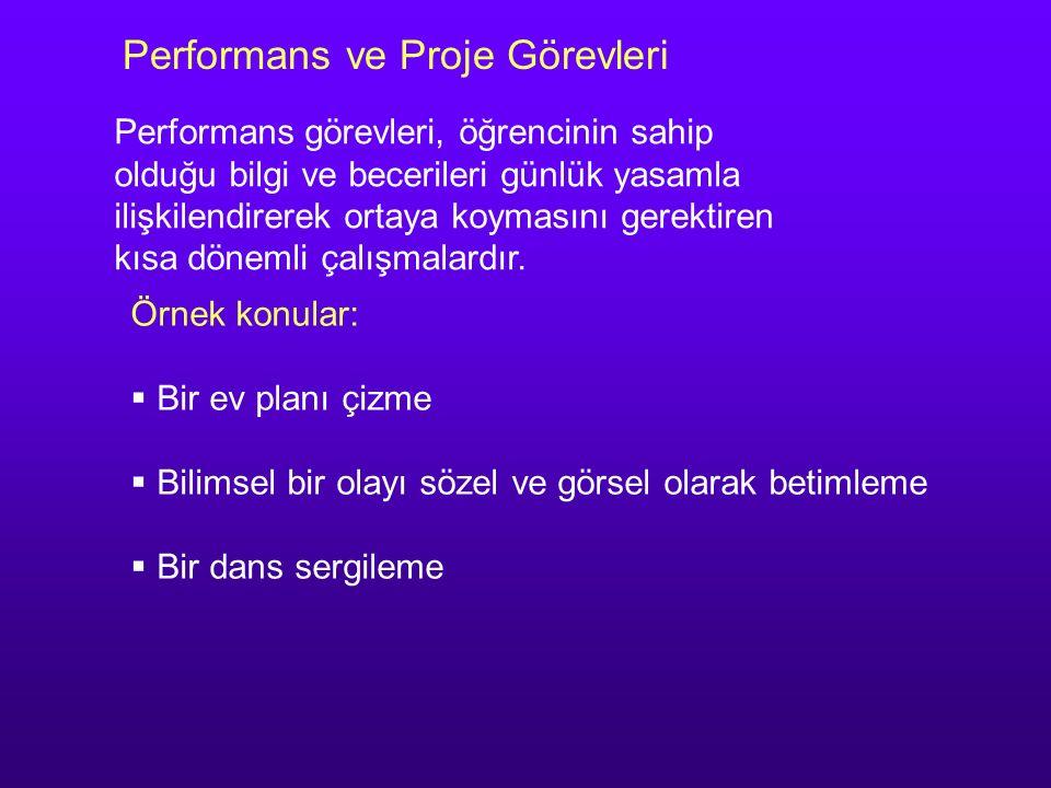 Performans ve Proje Görevleri