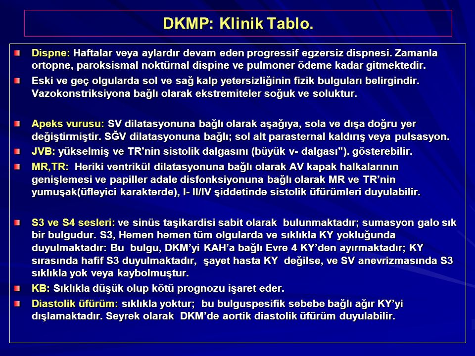 DKMP: Klinik Tablo.
