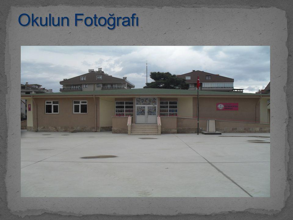 Okulun Fotoğrafı Ön cepheden çekilmiş okul fotoğrafı (2700x1600) bu fotoğrafın yerine konacak