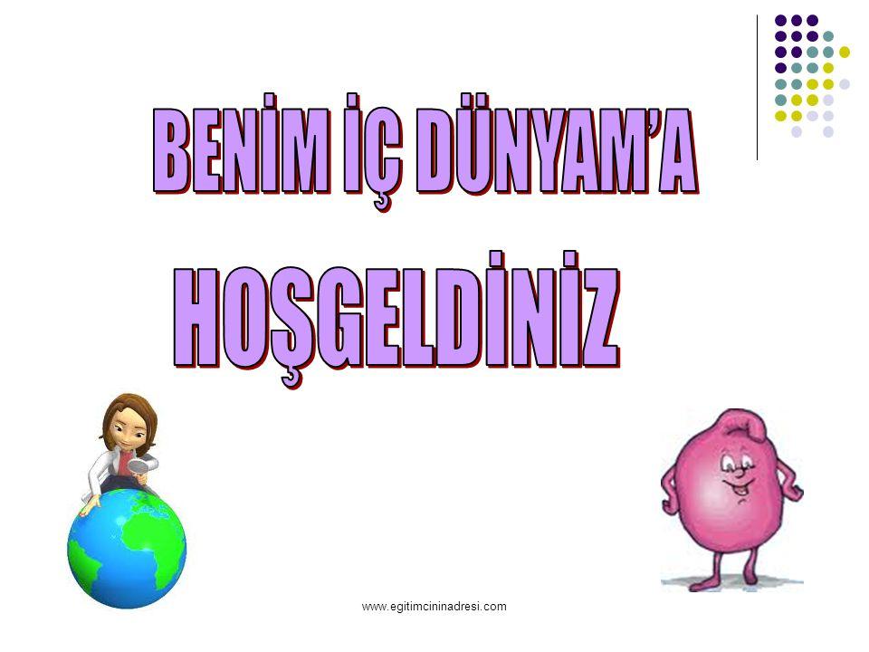 BENİM İÇ DÜNYAM'A HOŞGELDİNİZ www.egitimcininadresi.com