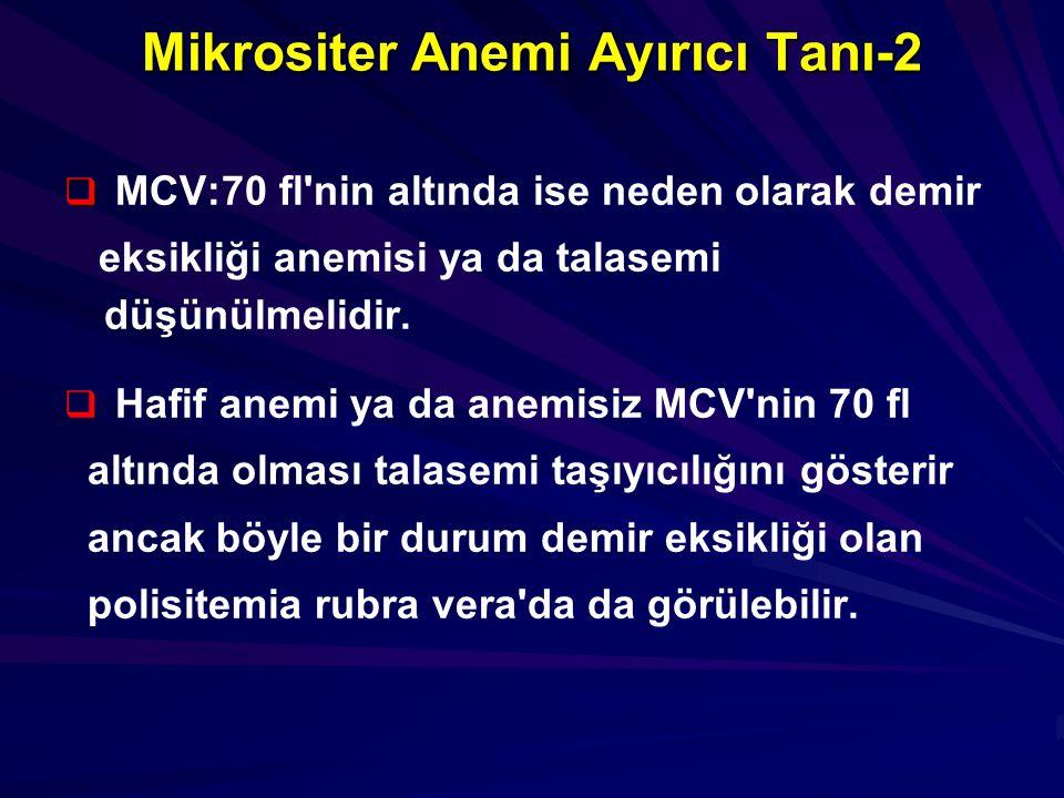 Mikrositer Anemi Ayırıcı Tanı-2