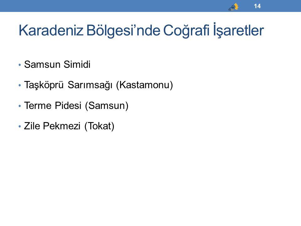 Karadeniz Bölgesi'nde Coğrafi İşaretler
