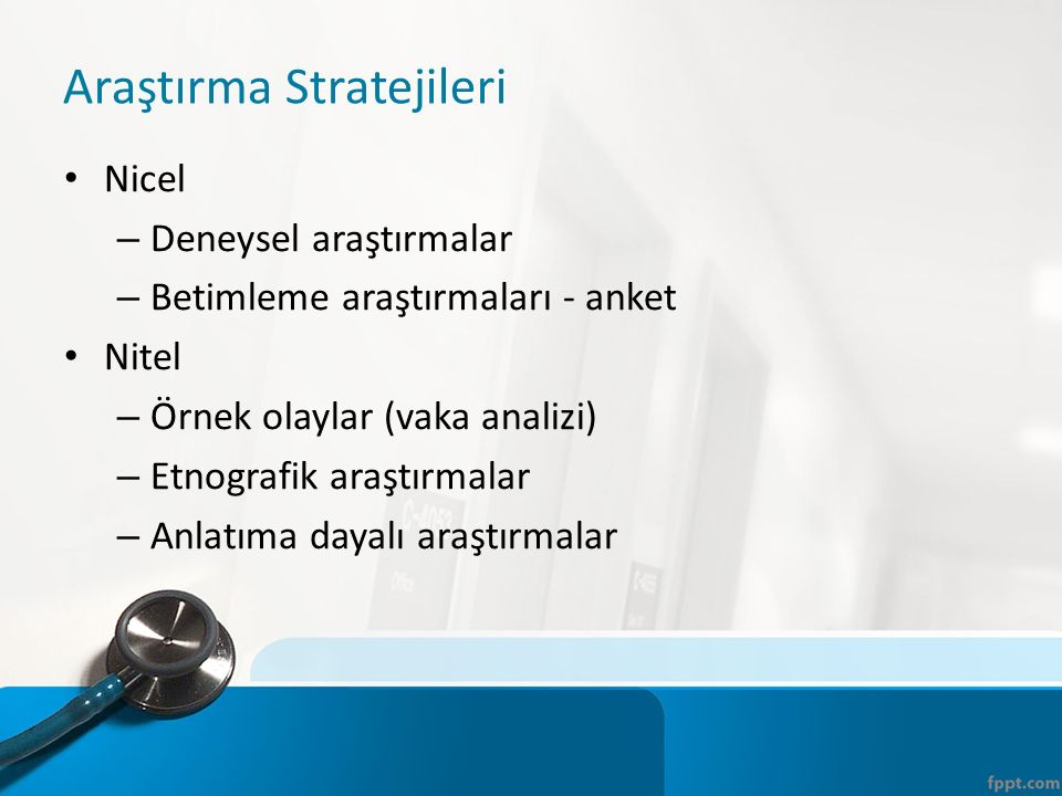 Araştırma Stratejileri