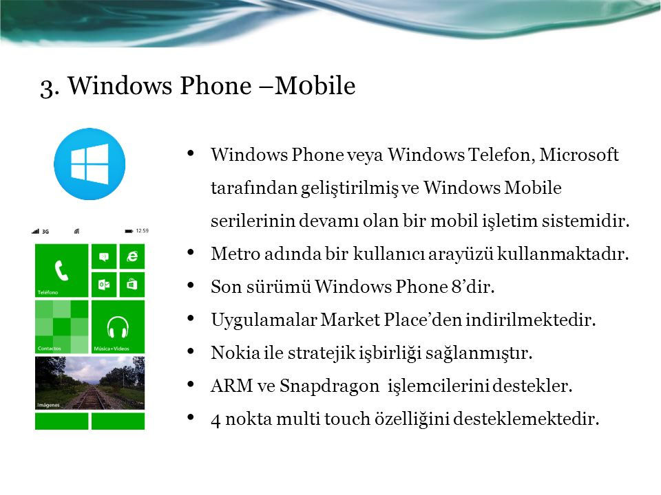 3. Windows Phone –M0bile