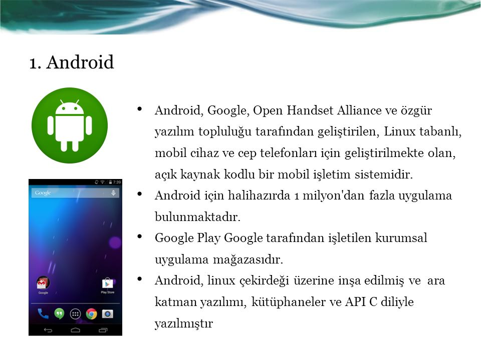 1. Android