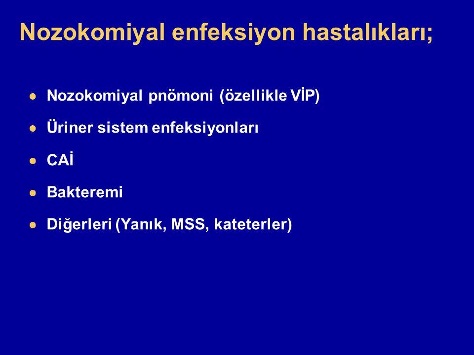 Nozokomiyal enfeksiyon hastalıkları;