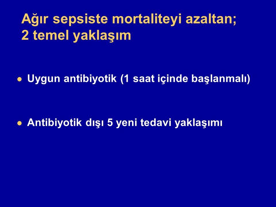 Ağır sepsiste mortaliteyi azaltan; 2 temel yaklaşım