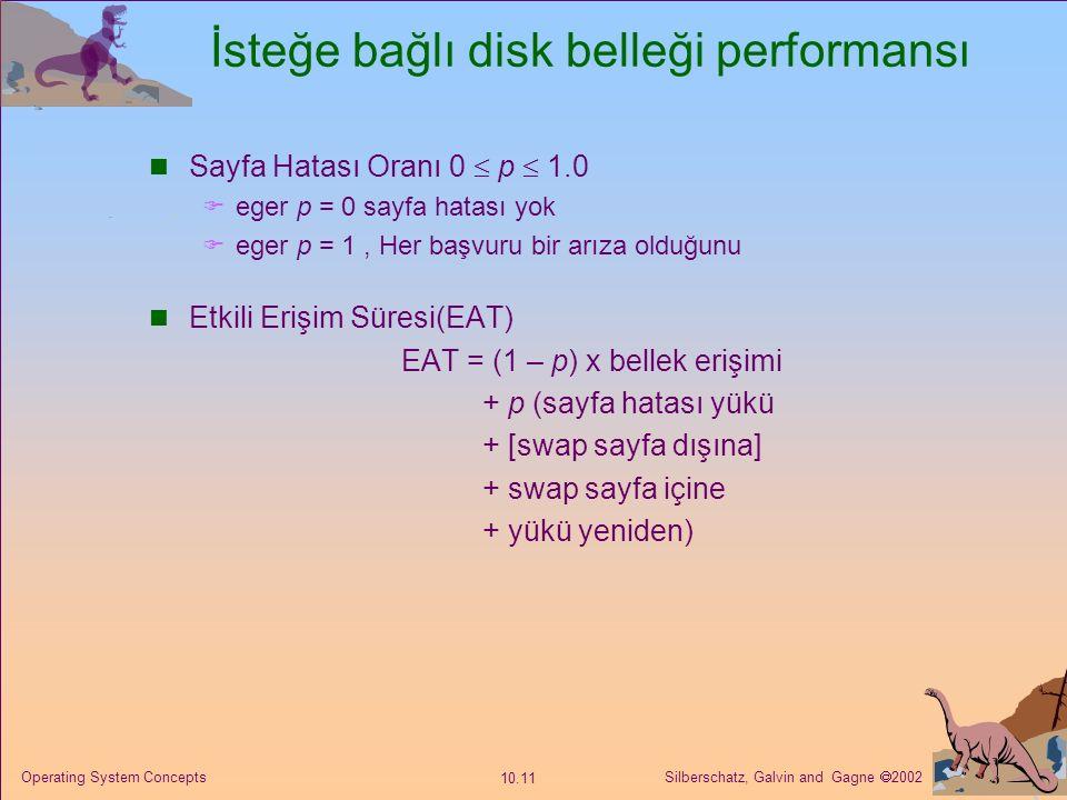 İsteğe bağlı disk belleği performansı