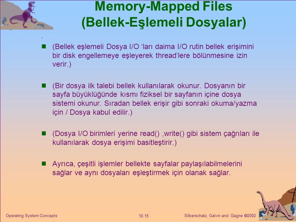 Memory-Mapped Files (Bellek-Eşlemeli Dosyalar)