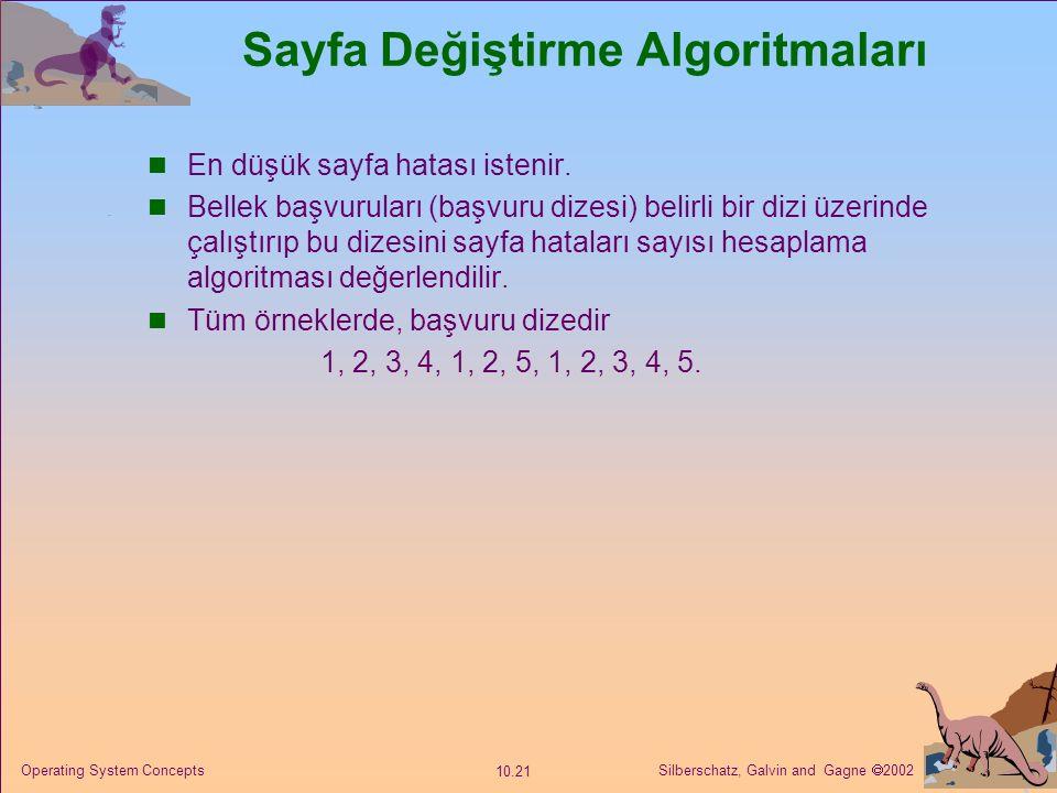 Sayfa Değiştirme Algoritmaları