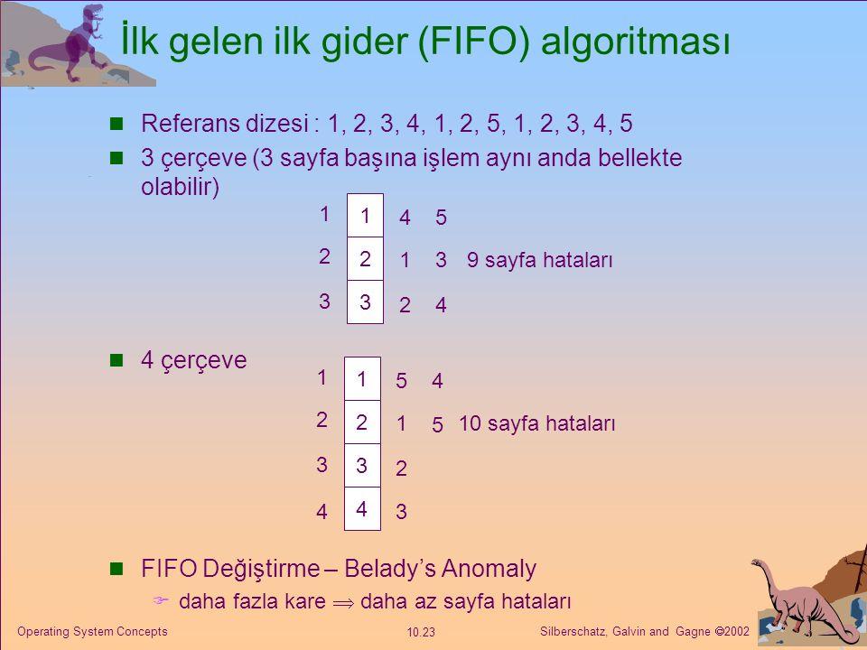 İlk gelen ilk gider (FIFO) algoritması