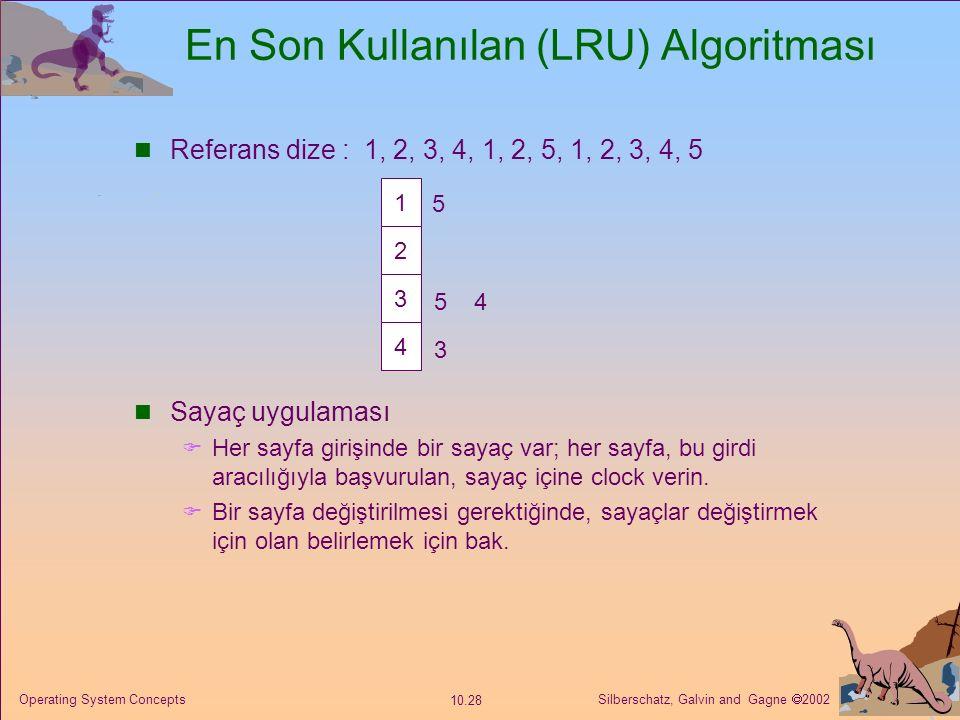 En Son Kullanılan (LRU) Algoritması