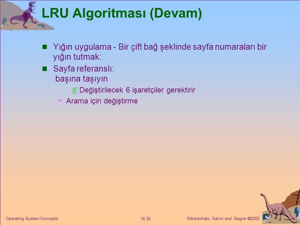 LRU Algoritması (Devam)
