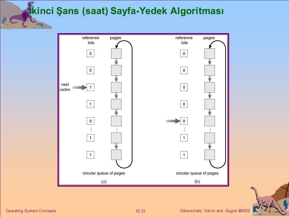 İkinci Şans (saat) Sayfa-Yedek Algoritması
