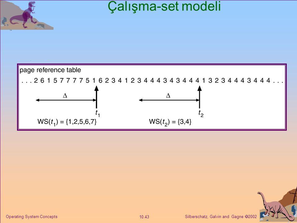 Çalışma-set modeli Operating System Concepts