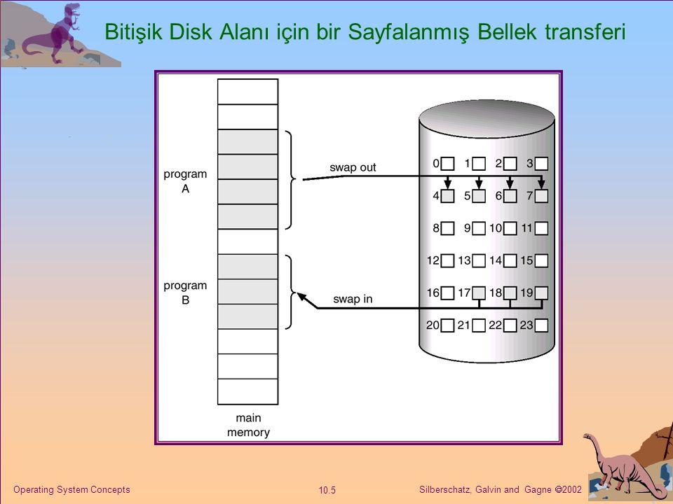 Bitişik Disk Alanı için bir Sayfalanmış Bellek transferi
