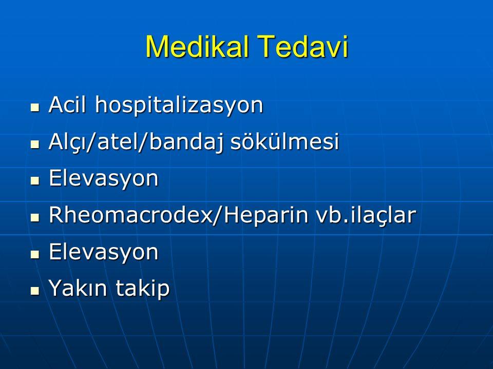 Medikal Tedavi Acil hospitalizasyon Alçı/atel/bandaj sökülmesi