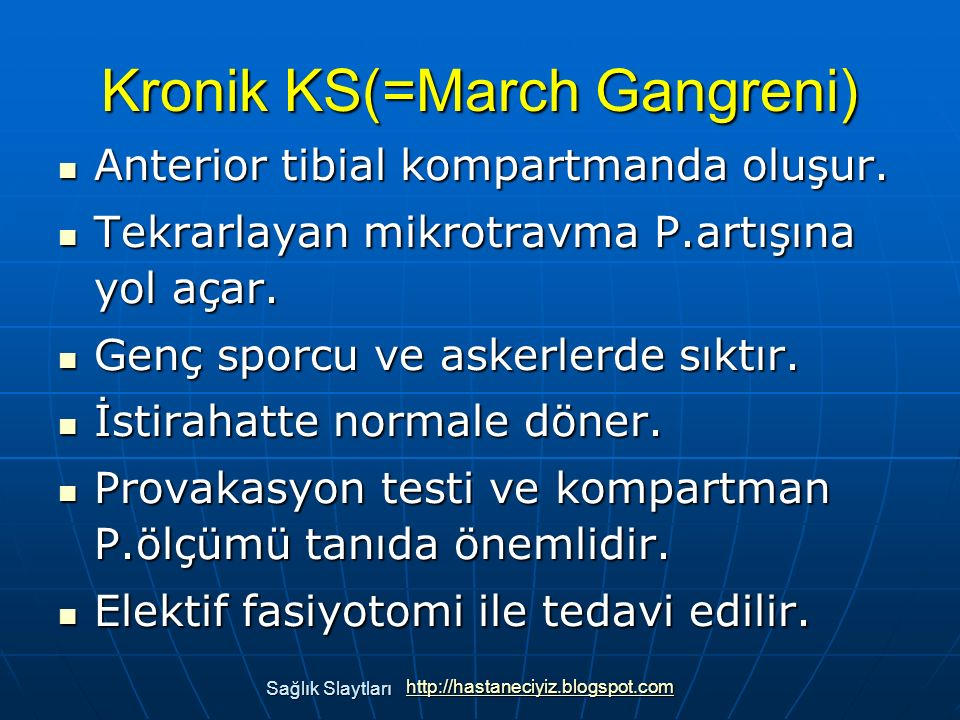 Kronik KS(=March Gangreni)